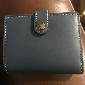 NWT Coach 1941 Dark Denim Small Trifold Wallet